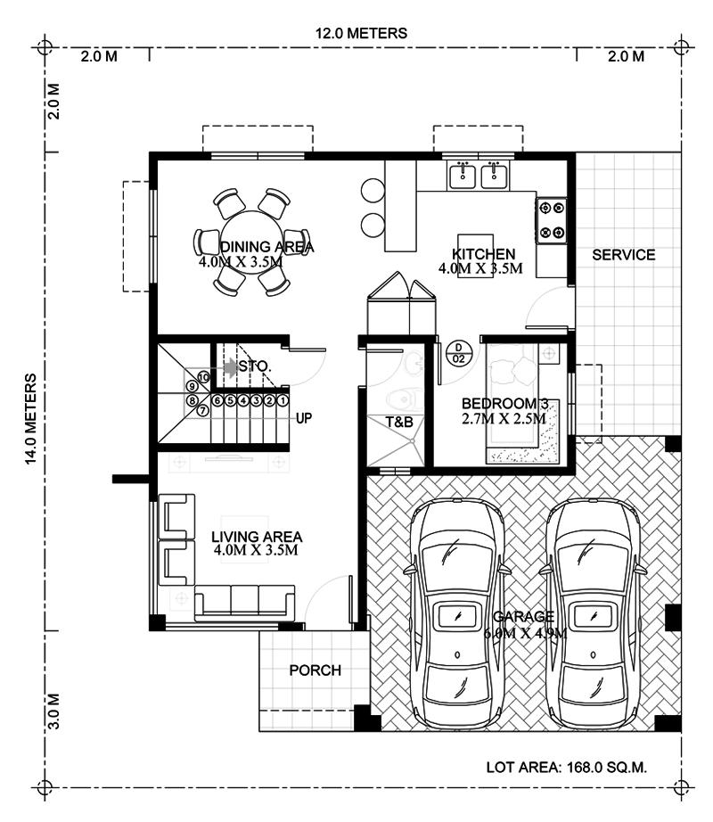 Ground-Floor of modern house