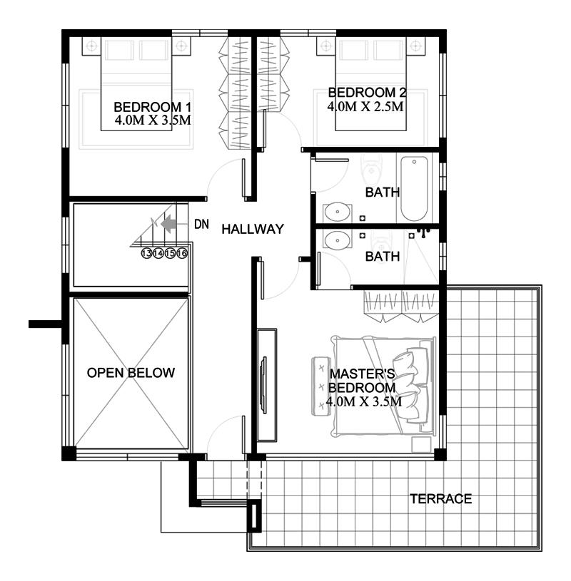 Second-Floor of Modern House
