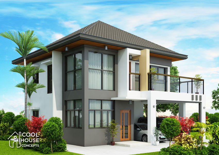 modern house with 4 bedrooms