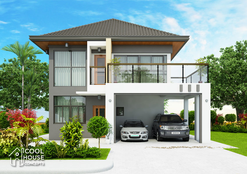 CHC18 002 View2 - 47+ Small Two Storey House Design With Firewall  Images