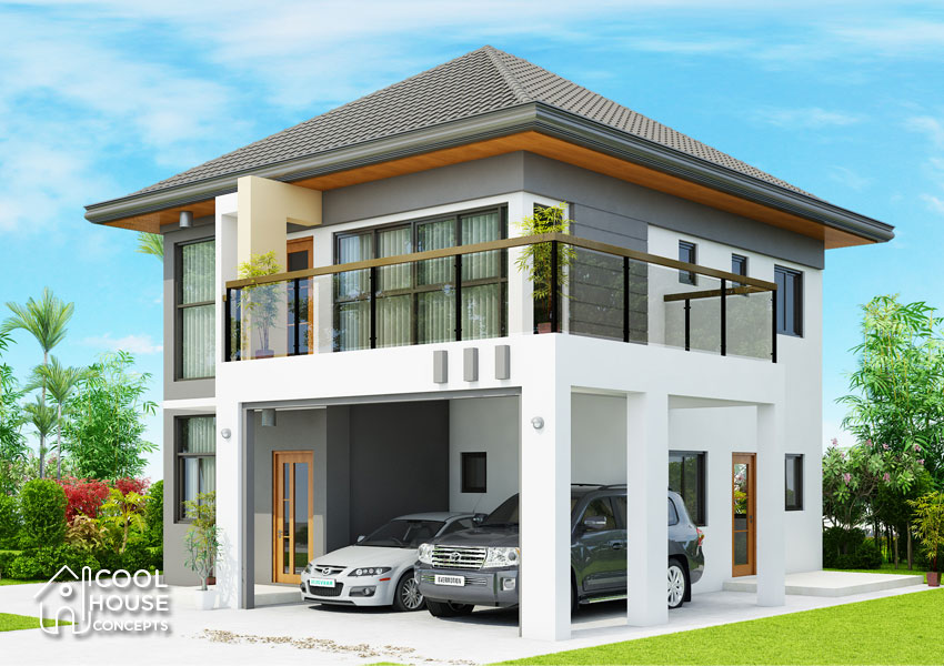 Modern House Two Story With 4 Bedrooms Cool House Concepts