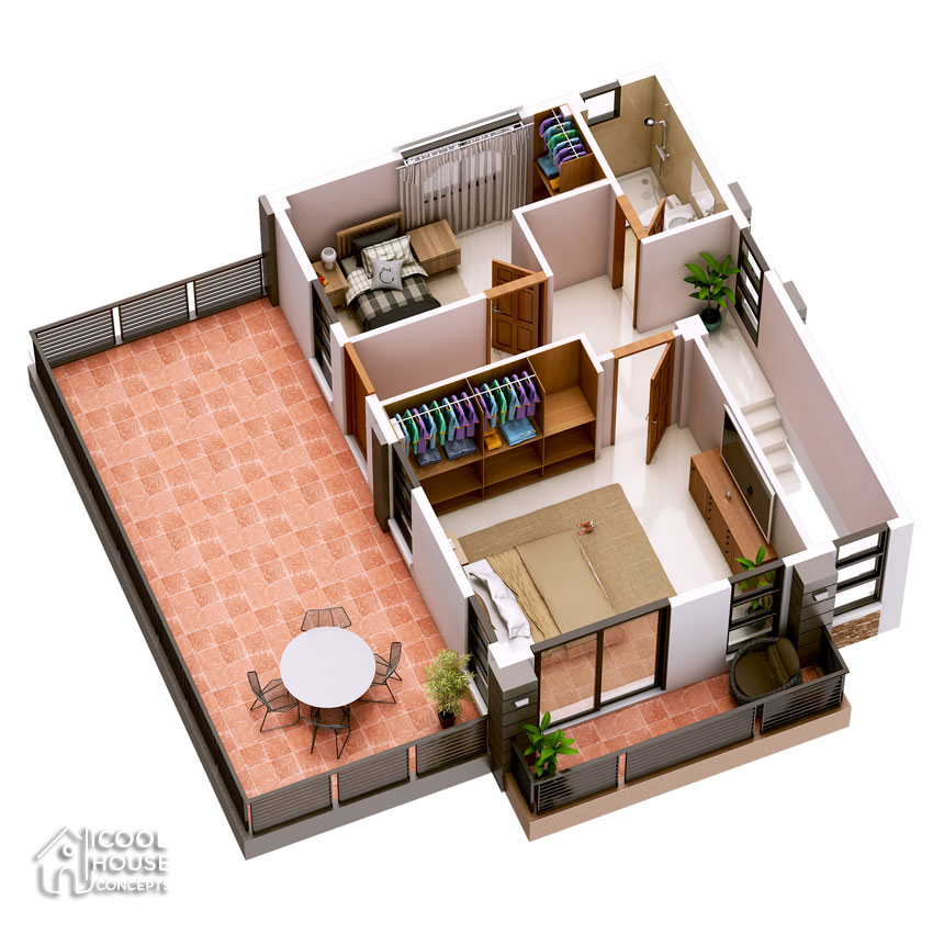 Three Bedroom Contemporary House With Spacious Terrace Cool House Concepts