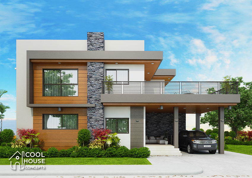 Four Bedrooms Two Storey Modern House - Cool House Concepts