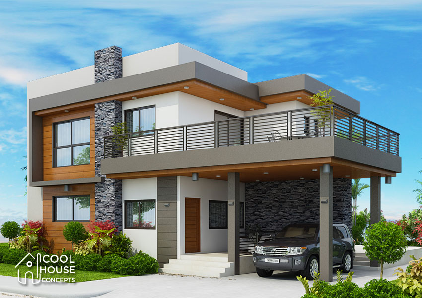 Four Bedrooms Two Storey Modern House Cool House Concepts