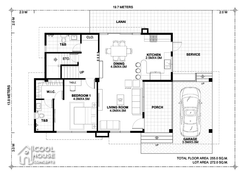 two storey modern house floor plan