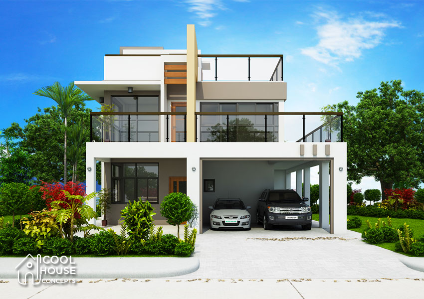 House Plan Small Home Design: Modern Contemporary House Design With 4 Bedrooms