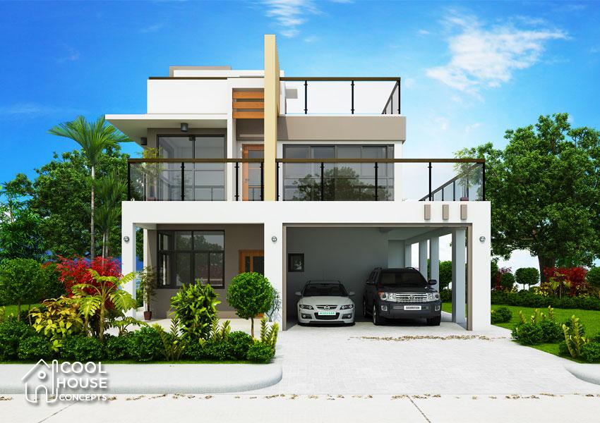 Modern contemporary house design facde