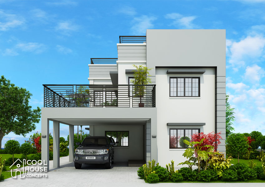 modern contemporary house front facade