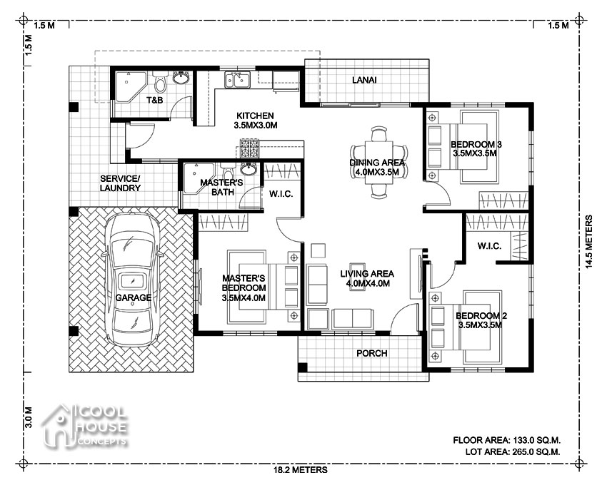 bungalow house design floor plan