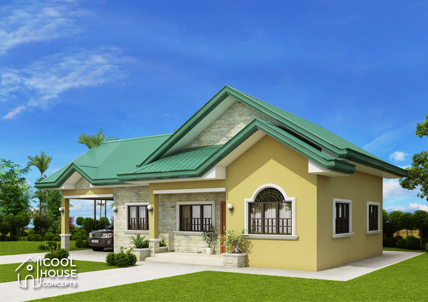 Bungalow House Design With 3 Bedrooms And 2 Bathrooms Cool House Concepts