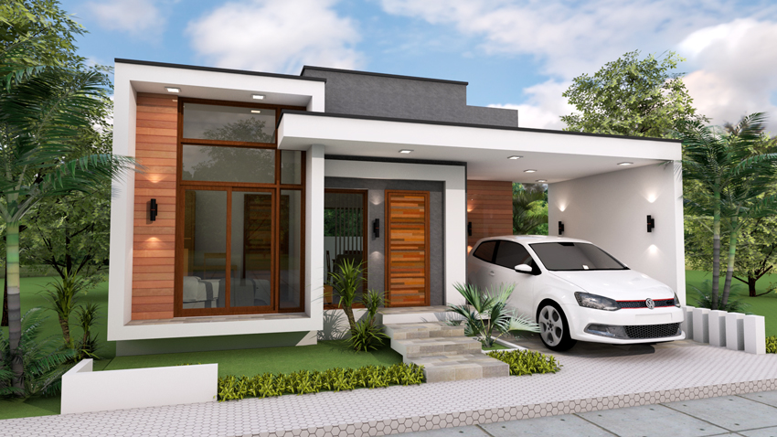 Modern House With Carport In Front 2021