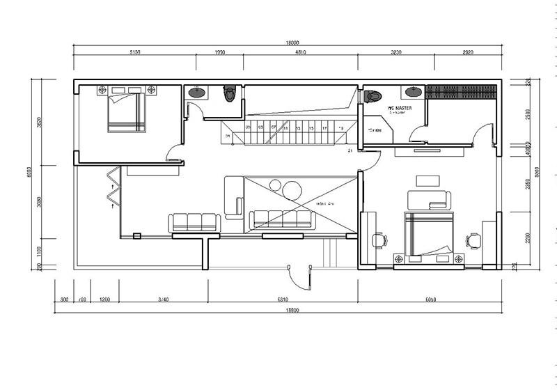 Three Storey House Plan fIRST fLOOR