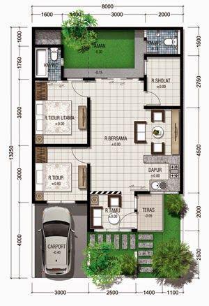 one storey house plan ground