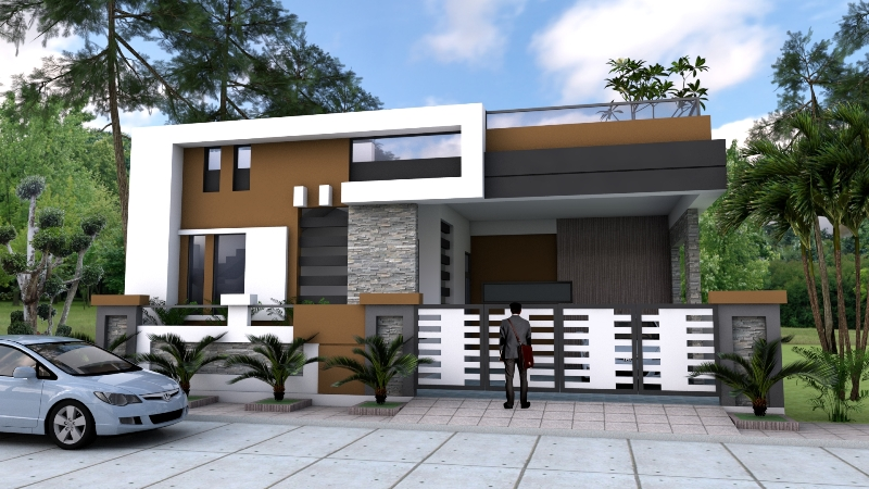 Four Bedroom One Storey House Design With Roof Deck Cool House Concepts