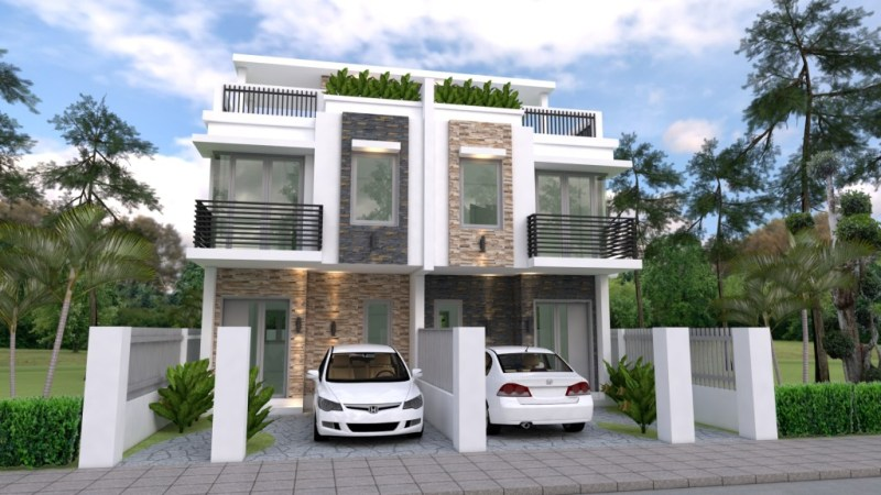 Duplex House Design with 3 Bedrooms - Cool House Concepts