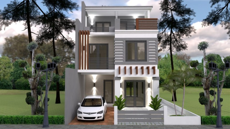 Single Attached Three Story iHousei iCool House Conceptsi