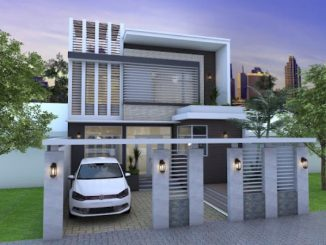 Modern two storey house concept