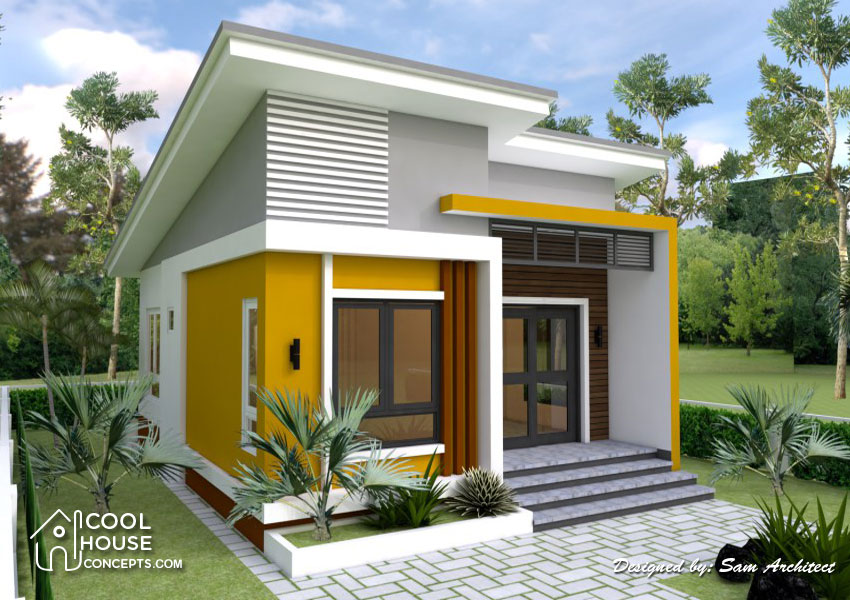 Small iHousei Design with 2 Bedrooms iCool House Conceptsi