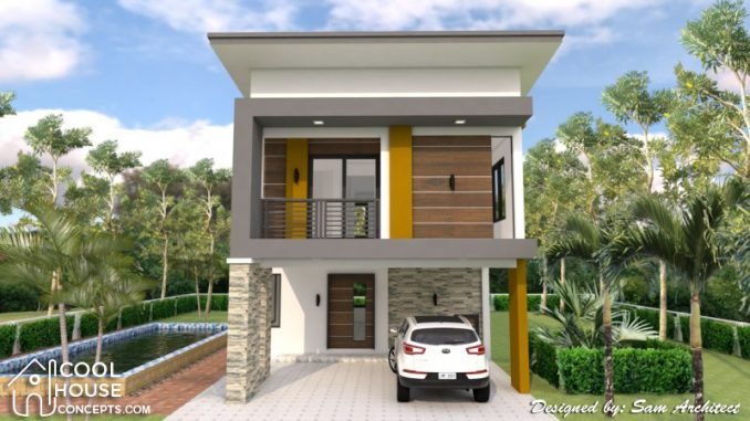Two Storey House Plan with 3 Bedrooms & 2-Car Garage - Cool House