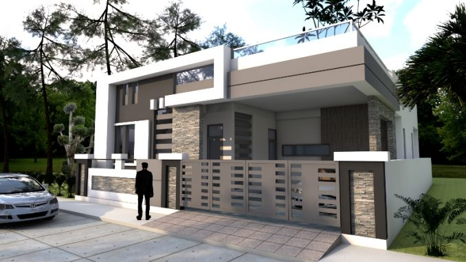Four Bedroom One Storey House