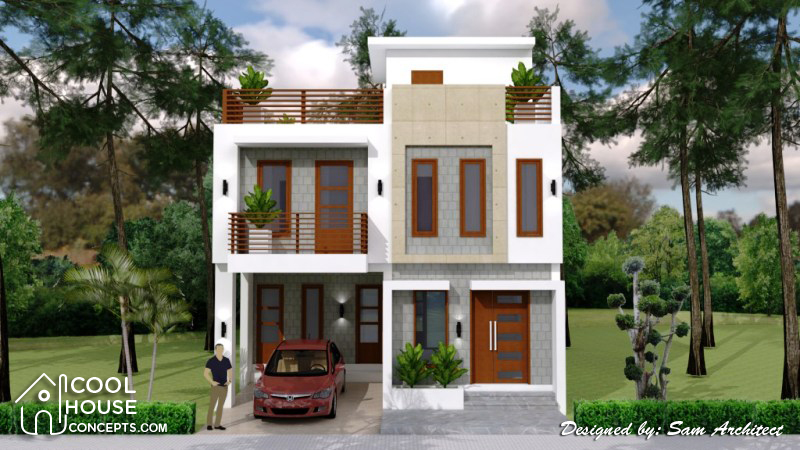 Single Attached Two Storey Concept With 3 Bedrooms Cool House