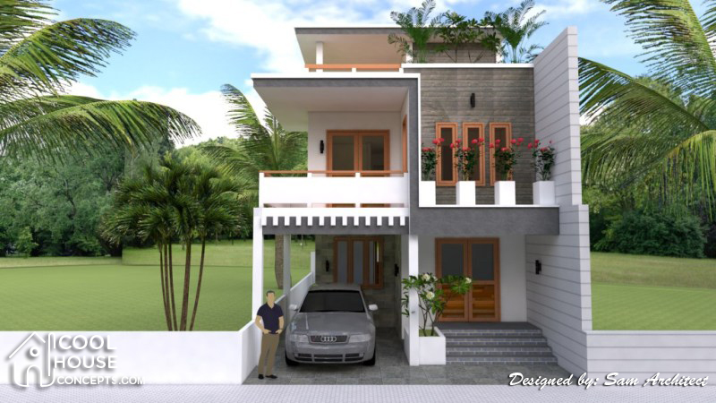 Narrow Lot House Plan With 4 Bedrooms Cool House Concepts
