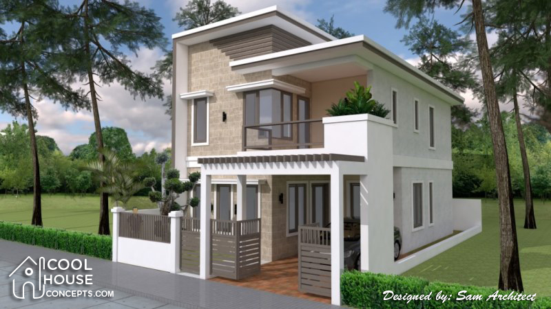 Two Storey House Design With 167 Square Meters Floor Area - Cool House Concepts