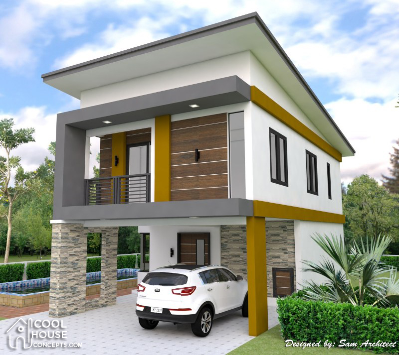 Two Storey House Plan with 3 Bedrooms & 2-Car Garage ...