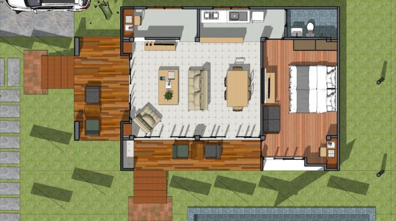 One Bedroom Cottage House Design Cool House Concepts