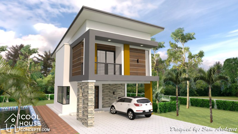 Two Storey House Plan With 3 Bedrooms 2 Car Garage Cool House Concepts