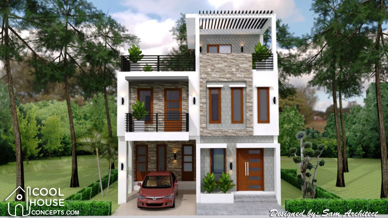 Single Attached Two Storey Concept With 3 Bedrooms