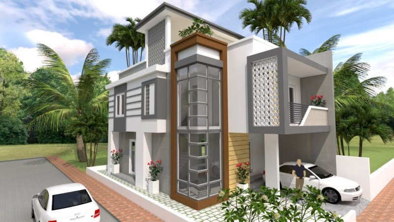 Four Bedroom 2 Storey House Concept With Roof Deck Cool House Concepts
