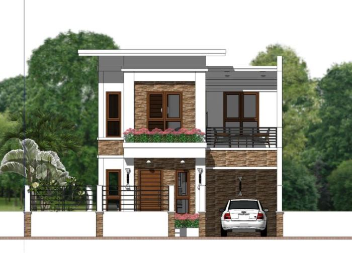 Narrow Lot Two Storey House Plan with 4 Bedrooms - Cool ... on one bedroom house plan, one car garage office, 2 car garage door floor plan, one car garage barn, one car garage shed, one car garage cabinet, one car garage doors, one car garage studio, one car garage carport,