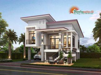 two storey modern house