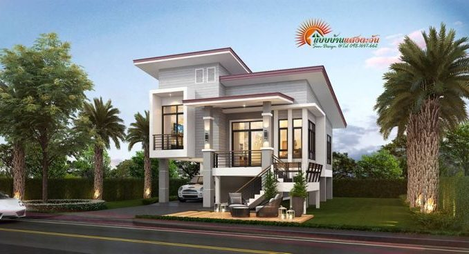 two storey modern house