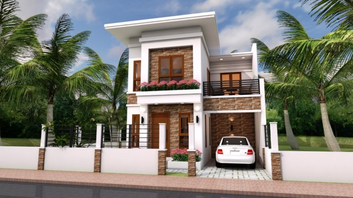 Narrow Lot Two Storey House Plan With 4 Bedrooms Cool