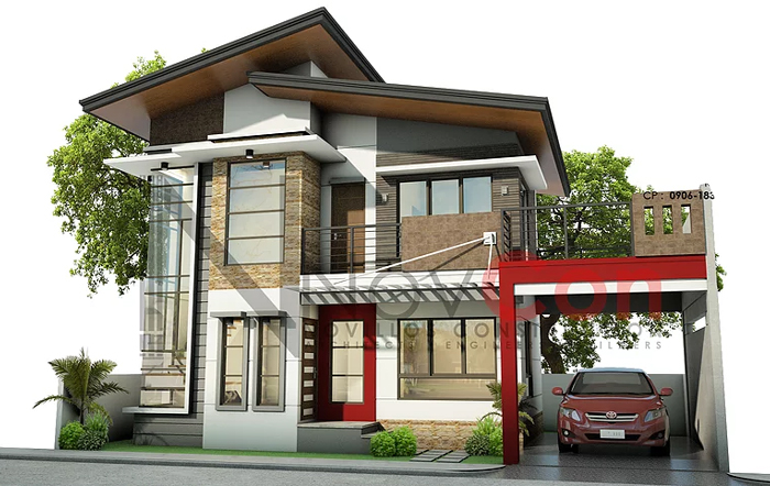 Simple Two Storey iHousei iConcepti with 3 Bedrooms iCooli