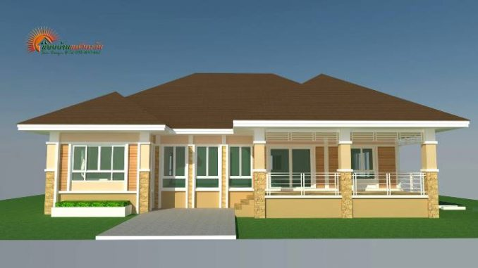 The Perfect Size Modern Three Bedroom Bungalow House Design