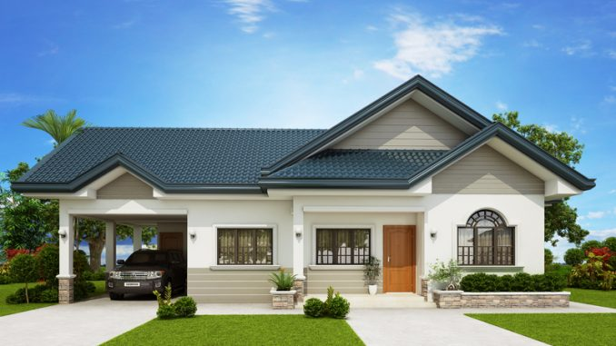 The Blue House Three Bedroom House Plan And Two Bathrooms Cool House Concepts
