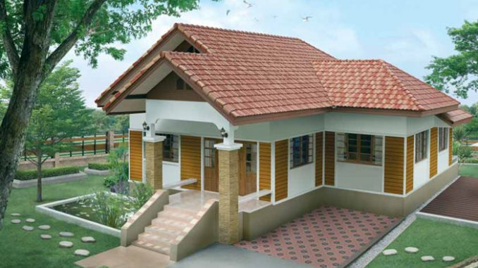 Modern Style Single Story Bungalow With Three Bedrooms