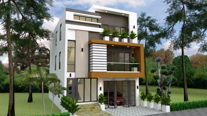 Three Level Modern House With Second Level Veranda Cool House Concepts