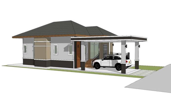Compact Single-storey House Design for Beginners or Small ... on family small space, family small home, family small kitchen design, family bathroom design,