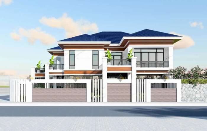 Wow What An Amazing Double Storey House With Three Balconies Cool House Concepts