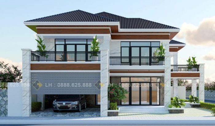 Wow! What an amazing double-storey house with three ...
