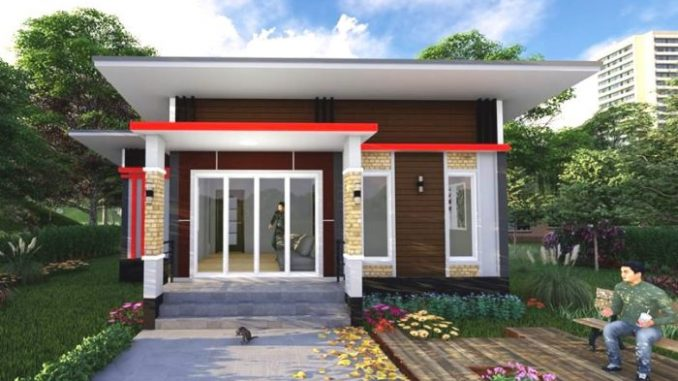Simple Design Of A Three Bedroom Single Storey Cool