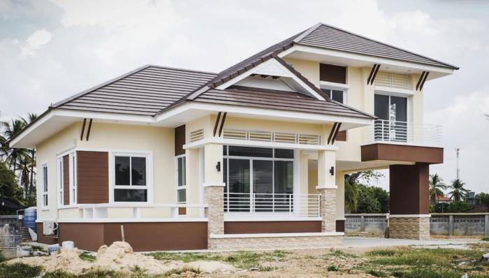 Thai-style Three-bedroom 1.5-storey House Design - Cool House Concepts