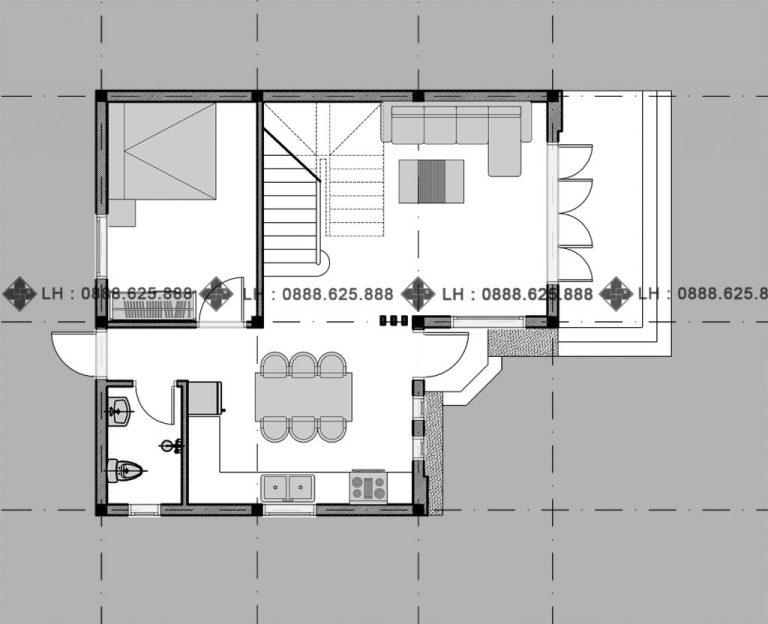 double-storey house ground floor