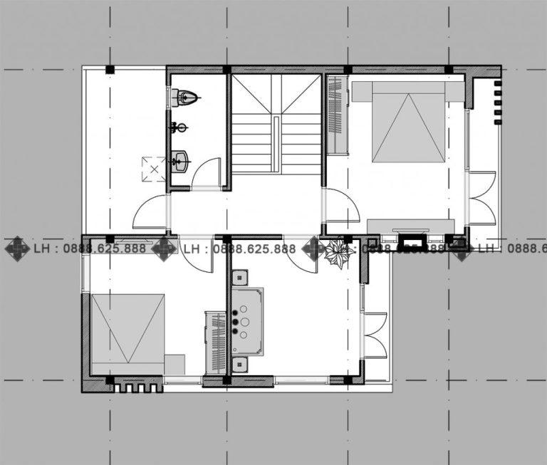 double-storey house second floor