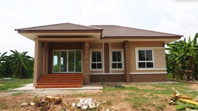 Well Designed And Elevated Three Bedroom Bungalow Cool House Concepts