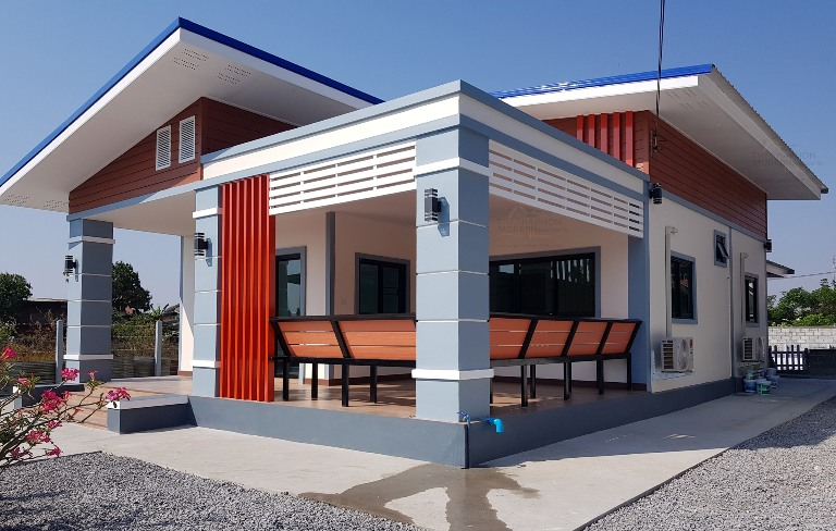 Three Bedroom Modern House With A Spacious Veranda Cool House Concepts